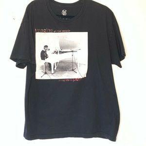 John Lennon Unisex Yoko Ono Graphic T-Shirt Black